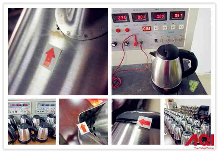 Water Kettle quality control and product Inspection service