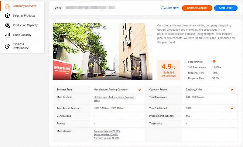 Searchingfor Manufacturers on Alibaba